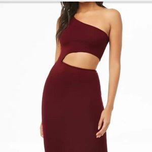 Forever21 One Shoulder Cut-Out Dress